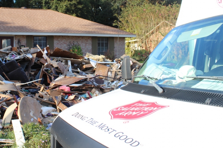 Salvation Army Transitions From Emergency Response  to Recovery in Louisiana