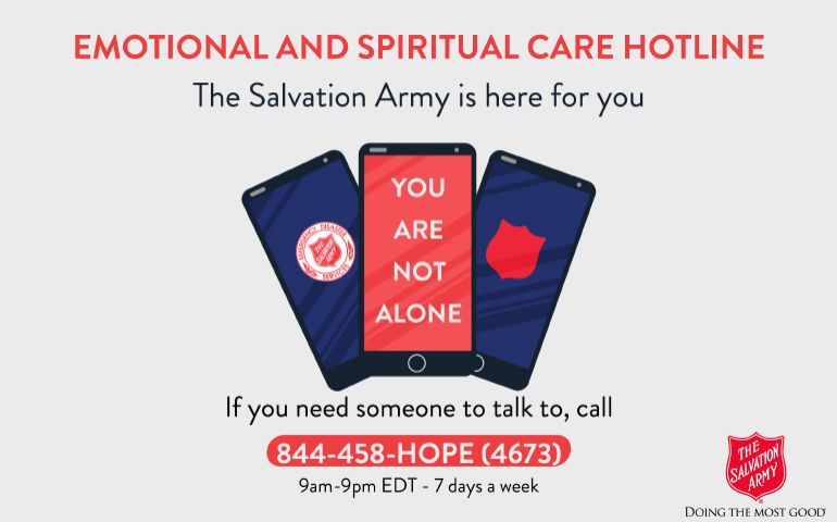 National COVID-19 Emotional and Spiritual Care Hotline available to everyone impacted by pandemic