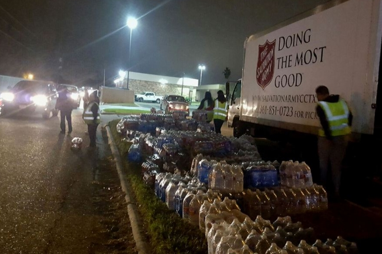 The Salvation Army Provides Water To Corpus Christi Following Contamination