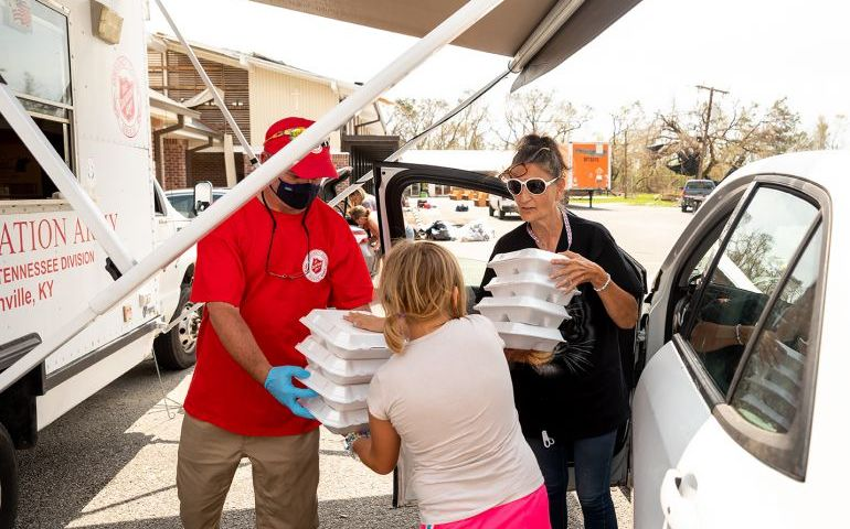 Salvation Army Disaster Relief In Full Swing in Lake Charles