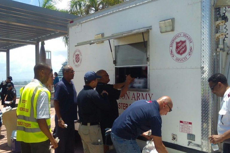 The Salvation Army in Puerto Rico Assists Coast Guard with Ferry Rescue