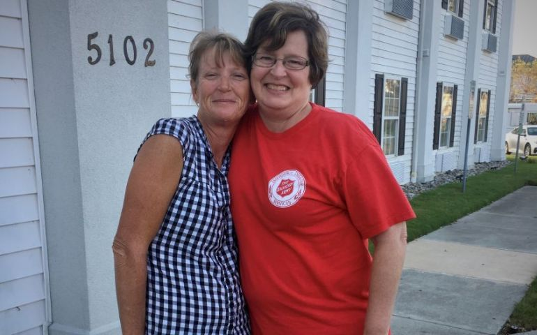 Salvation Army Responder Helps Fellow Navy Mom Impacted by Florence