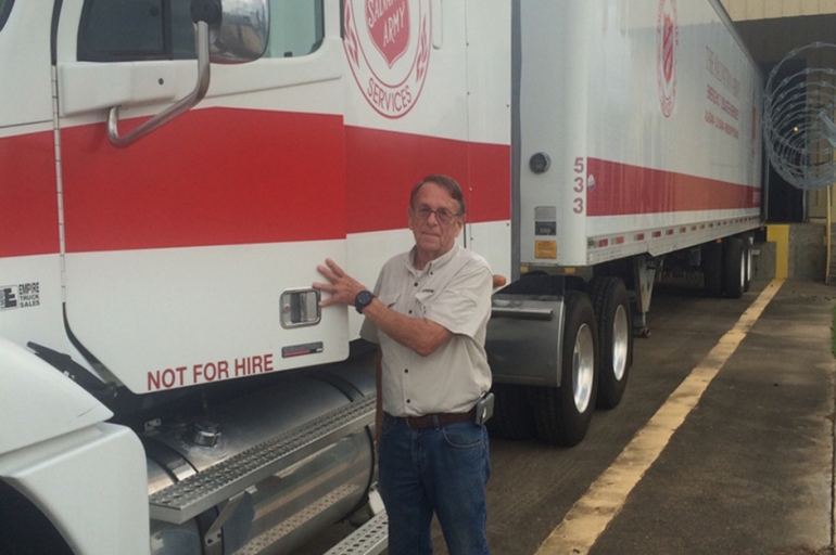 Loaned by MS Baptists, Truck Driver Becomes Blessing to Salvation Army