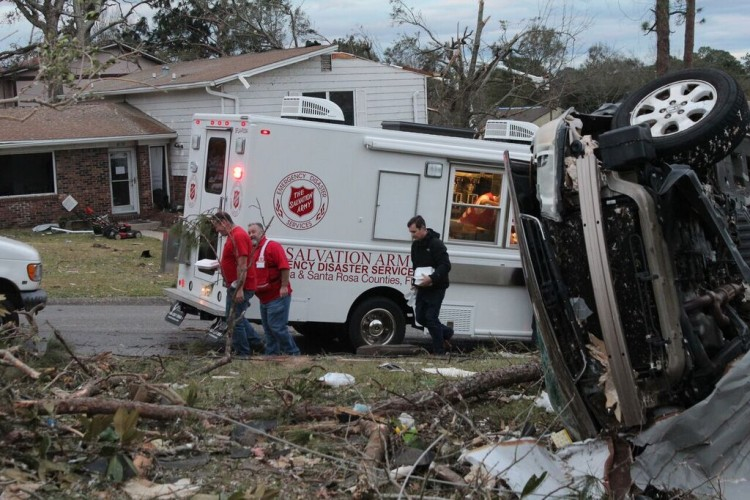 Salvation Army Helps With Pensacola Tornado Recovery