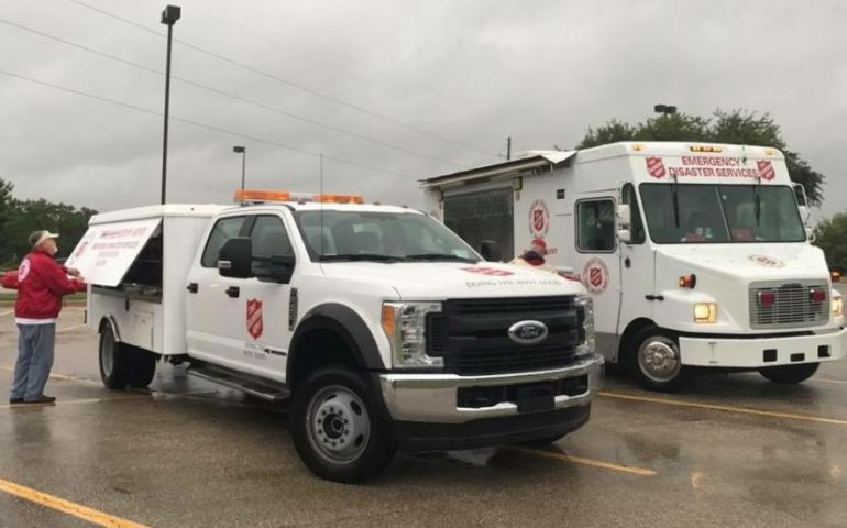 Salvation Army Disaster Service Begins After Harvey Landfall in Texas
