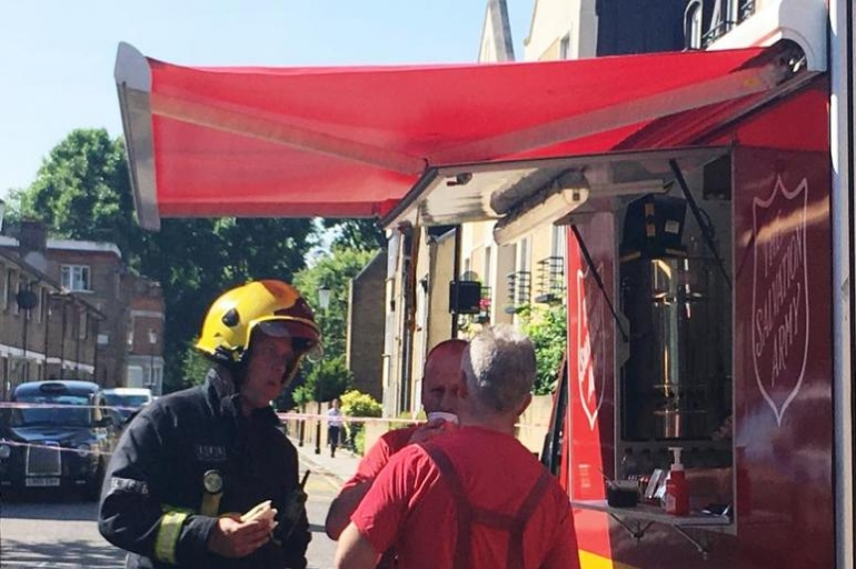 Salvation Army Responds to Grenfell Tower Residence in London, England
