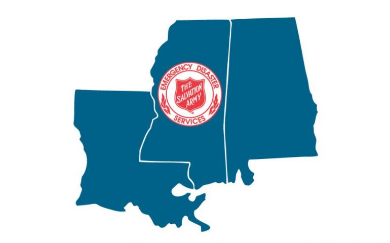 Salvation Army Incident Command Team Reporting to Opelika, AL for Tornado Recovery
