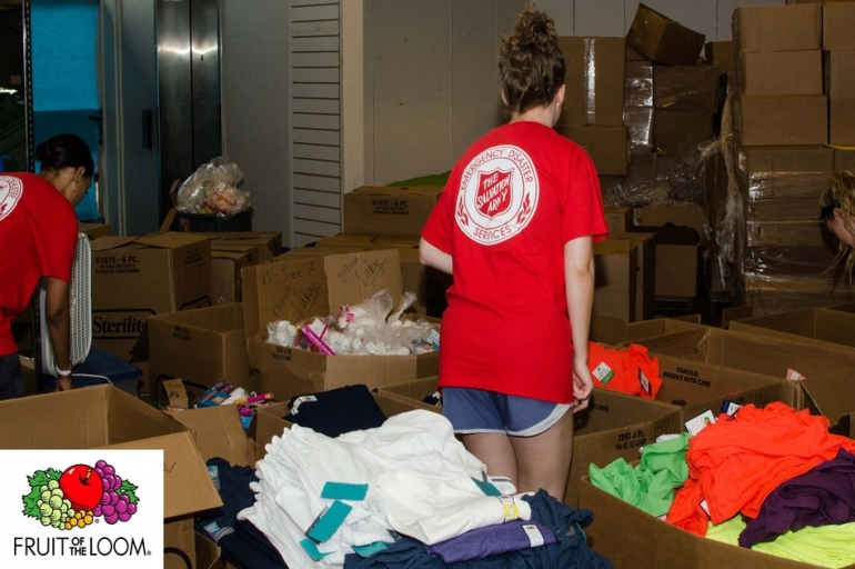 Fruit of the Loom Makes Donation to The Salvation Army for Flood Relief