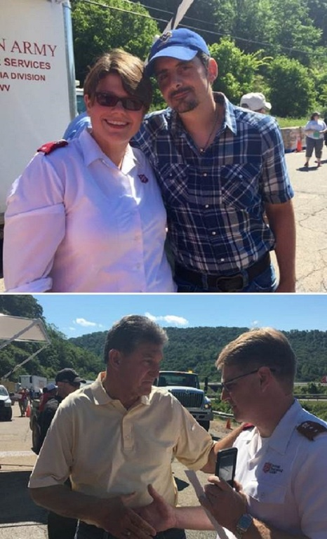 Senator Joe Manchin of West Virginia Visits First Responders in Clendenin, WV
