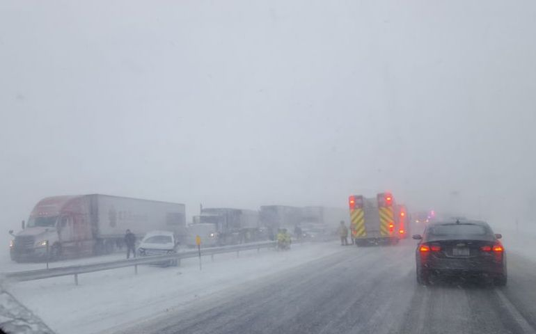 Buffalo Area EDS Teams Respond to 75 Vehicle Accident During Blizzard