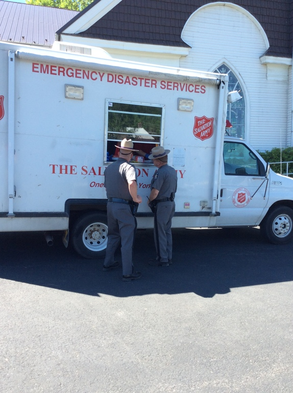 The Salvation Army assists search and rescue efforts in Delaware County, NY