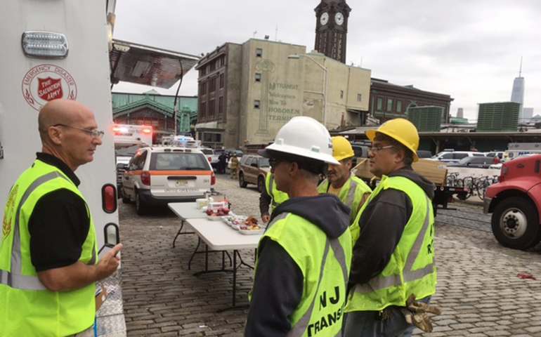 The Salvation Army Emergency Disaster Services Responds to Hoboken Train Crash