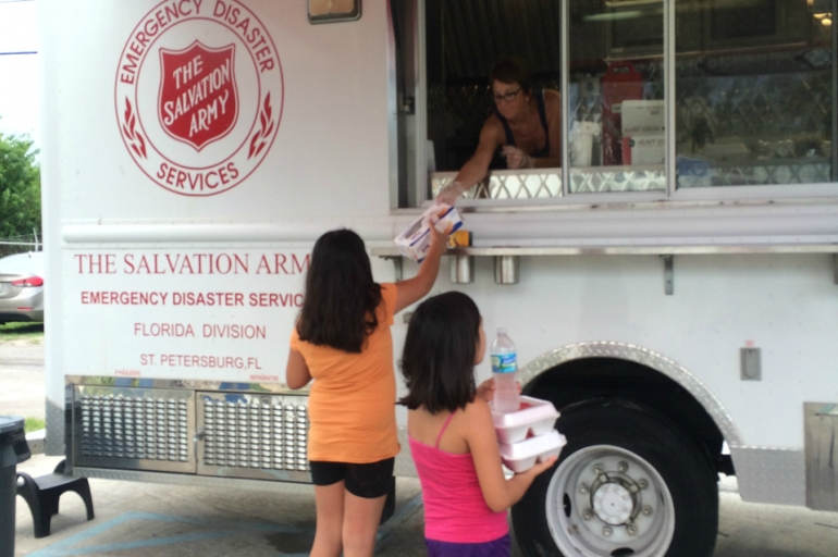 Salvation Army Provides Long-Term Care After Tropical Storm Colin