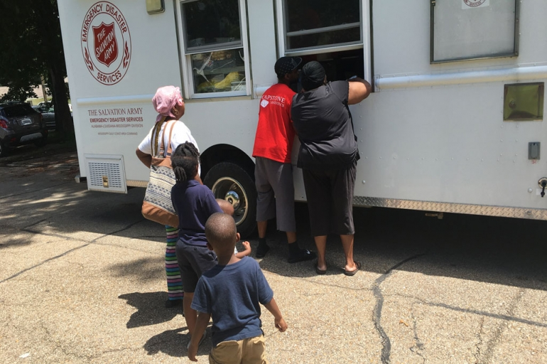 The Salvation Army Begins Feeding in Communities as Flood Water Slowly Drops