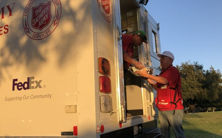 Answering the Call to Multiple Wildfires, The Salvation Army is Providing Assistance at Shelters